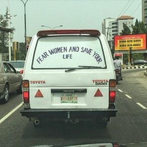 Hilarious!! See The Funny Message This Lagos Bus Is Passing About Women [See Photo]